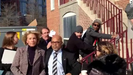 Protesters block Betsy DeVos from entering DC public school