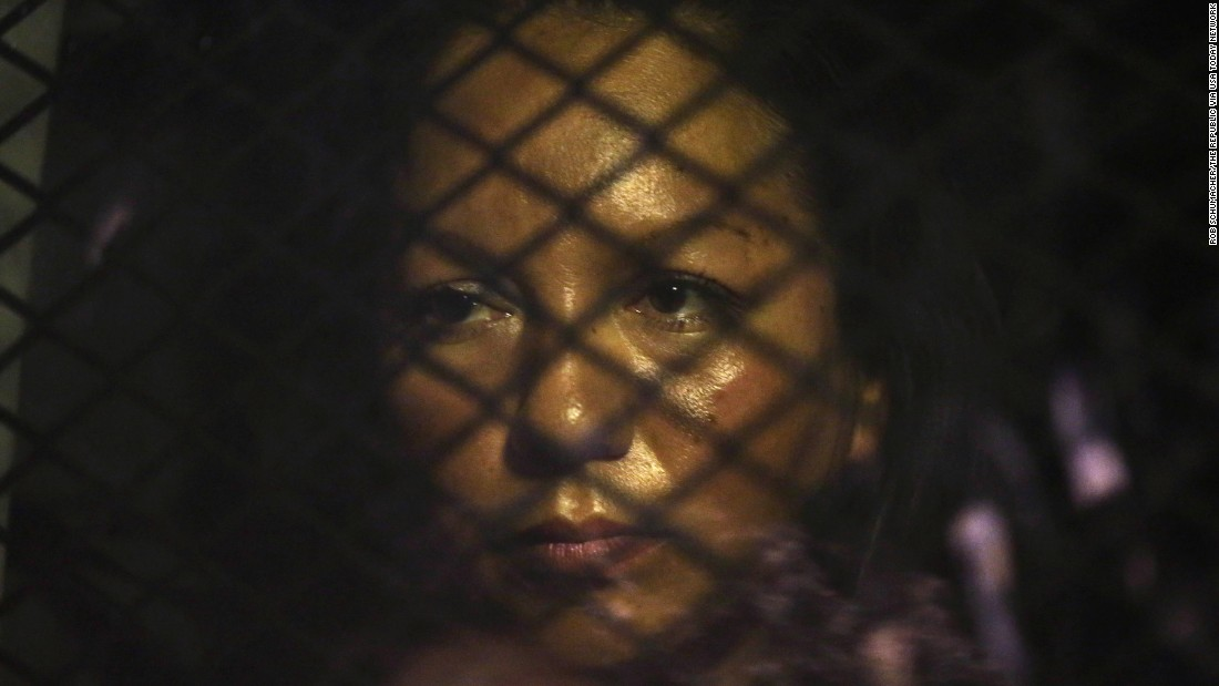 "Guadalupe Garcia de Rayos is locked in a van outside an immigration office in Phoenix on Wednesday, February 8. The undocumented immigrant <a href=""http://www.cnn.com/2017/02/09/us/arizona-guadalupe-garcia-de-rayos-protests/"" target=""_blank"">was detained and deported to her native Mexico</a> in what her lawyer claims is a direct result of President Trump's crackdown on illegal immigration. US Immigration and Customs Enforcement officials claim there was nothing special about her case: She committed a crime in 2008, was placed under a deportation order, and her time had come."