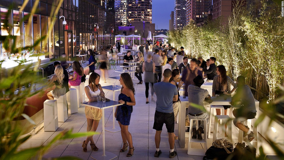 <strong>Yotel, Manhattan, New York City: </strong>Just five minutes from Times Square, Yotel boasts the largest outdoor hotel terrace in the city: ideal for after-work drinks.