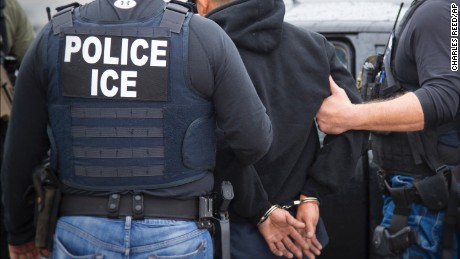 In this Tuesday, February 7, 2017, photo released by US Immigration and Customs Enforcement shows foreign nationals being arrested in Los Angeles.