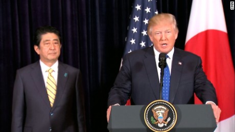 Trump, Abe respond to N. Korea missile test