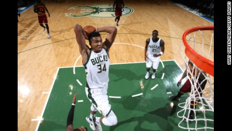 Milwaukee Bucks point guard Giannis Antetokounmpo.