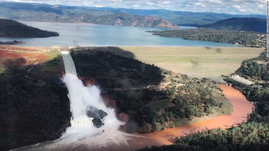 Image result for pictures of oroville dam damage