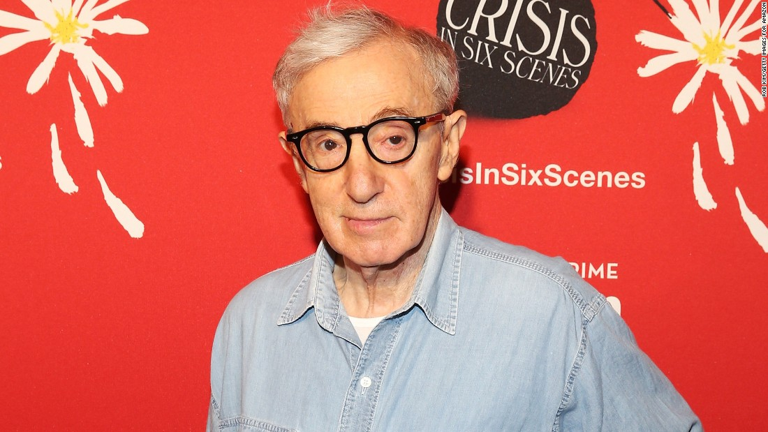 Director Woody Allen is about 65 years older than his youngest daughter, Manzie, whom he adopted with wife Soon-Yi Previn, who is the adopted daughter of Allen's former partner, Mia Farrow.