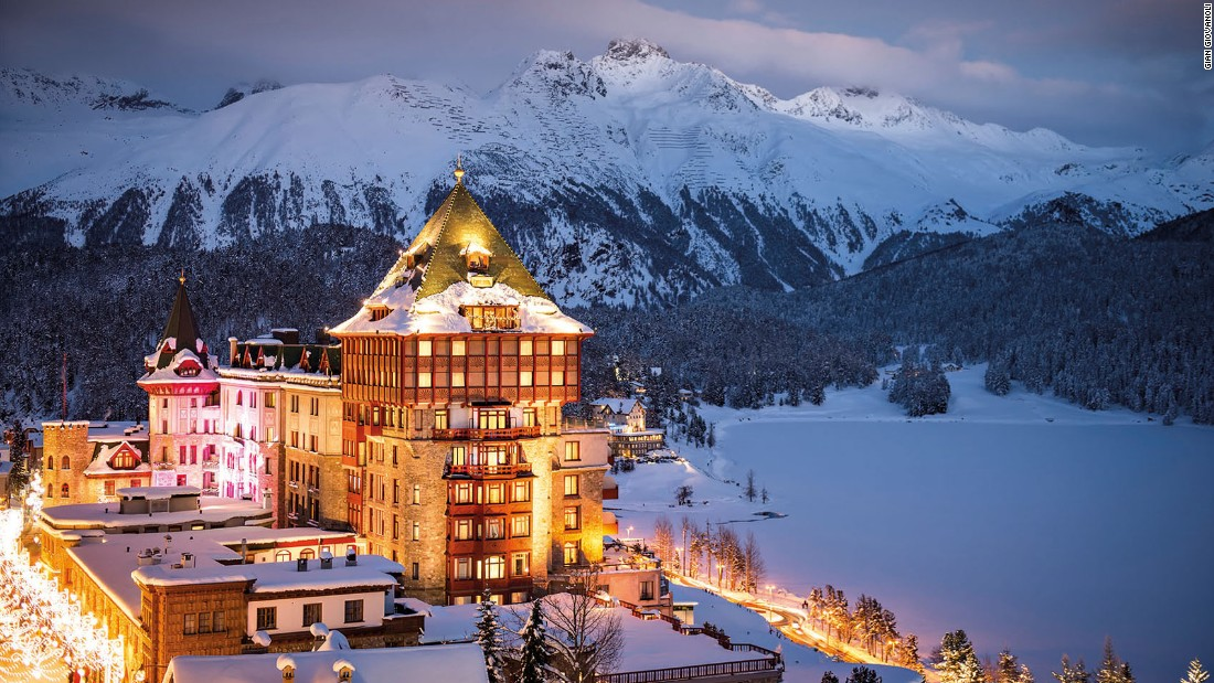 <strong>St. Moritz, Switzerland: </strong>The 120-year-old Badrutt's Palace is one of the five-star hotels in the valley.