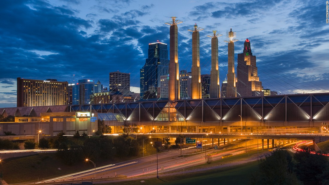Both St. Louis and Kansas City have reinvented themselves in recent years as dynamic 21st-century cities. Kansas City, pictured, is renowned as the first city in the world to get speedy Google Fiber broadband.