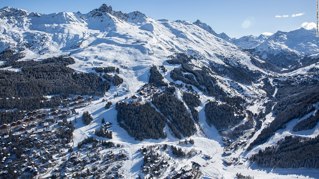 <strong>Meribel, France: </strong>Meribel sits at the heart of the Three Valleys, a welcoming wooded buffer between chic Courchevel and high-altitude Val Thorens. It features a mini airstrip -- just 1,332 feet long -- among the firs.
