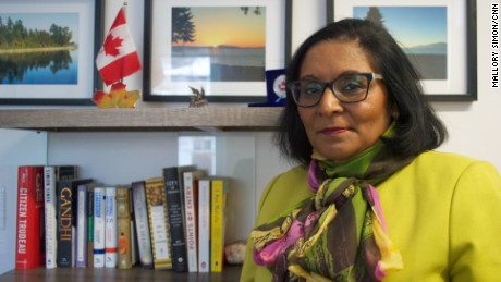 Rita Chahal, executive director of Manitoba Interfaith Immigration Council, who has been helping those who cross the border.