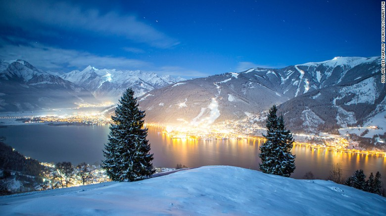 There's just two miles between landing strip and Austria's beautiful Zell am See.