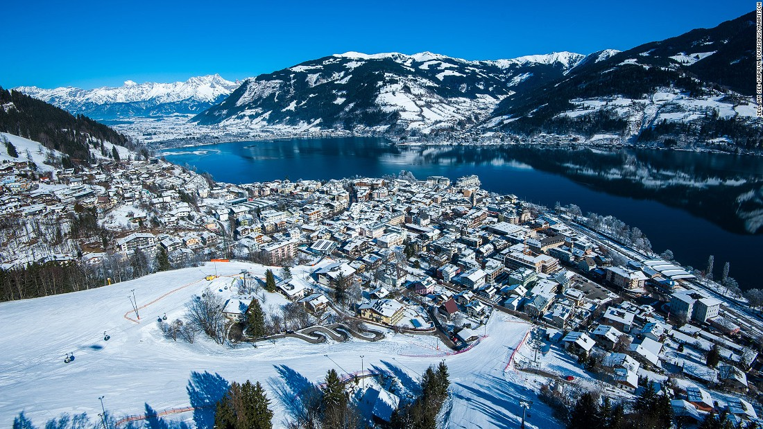 <strong>Zell am See, Austria: </strong>Medieval Zell am See occupies a picturesque spot on the western shore of Lake Zell with 48 miles of runs. Zell am See's airport is only two miles from the winter resort.