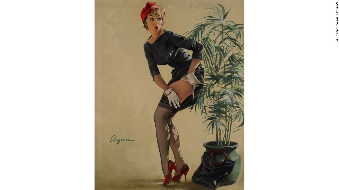 """Modest Maneuver"" (1969) by Gil Elvgren"