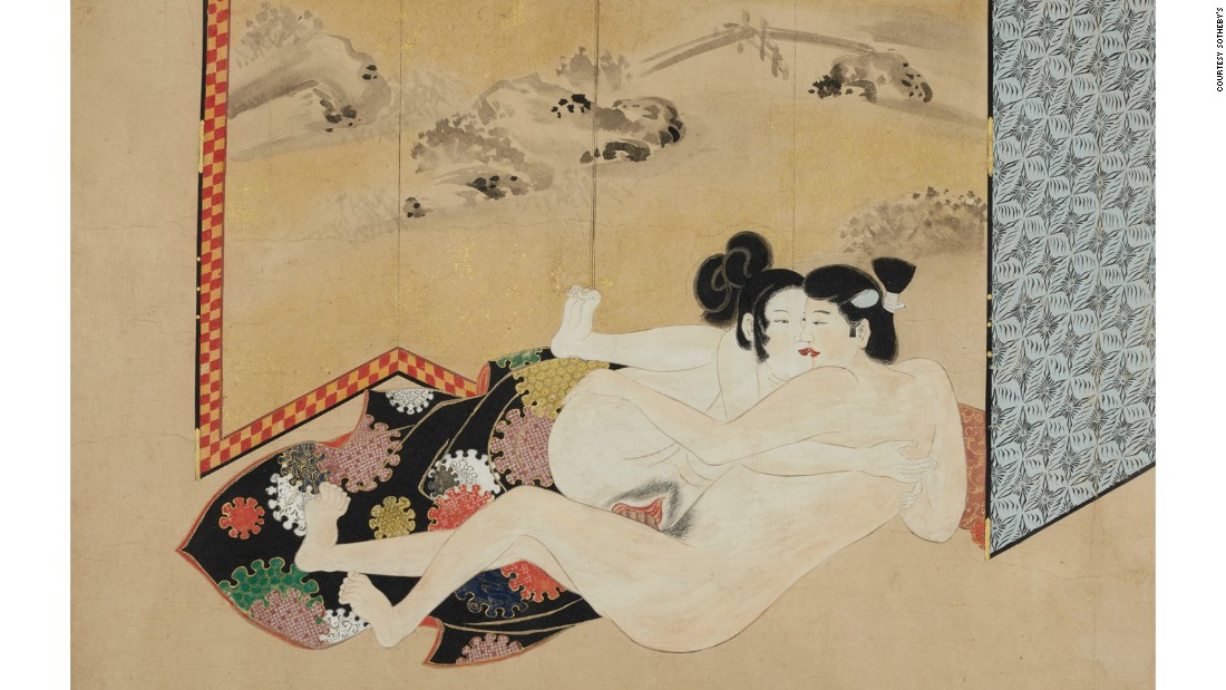 Japanese shunga scroll (Edo Period, late 17th-century)