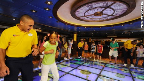 Disney's Oceaneer Club and Lab features a Magic PlayFloor for kids.