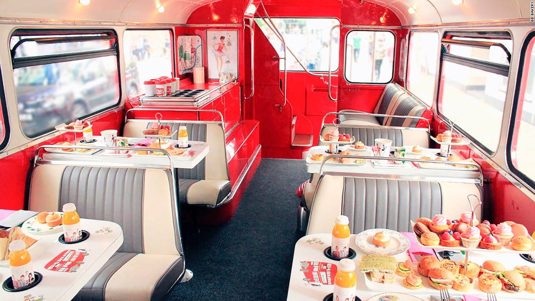 <strong>B Afternoon Tea Bus Tour, BB Bakery: </strong>No other afternoon tea experience is more tourist-friendly. Diners tour some of the most famous landmarks of London while enjoying an afternoon tea on a 1960s double-decker bus.