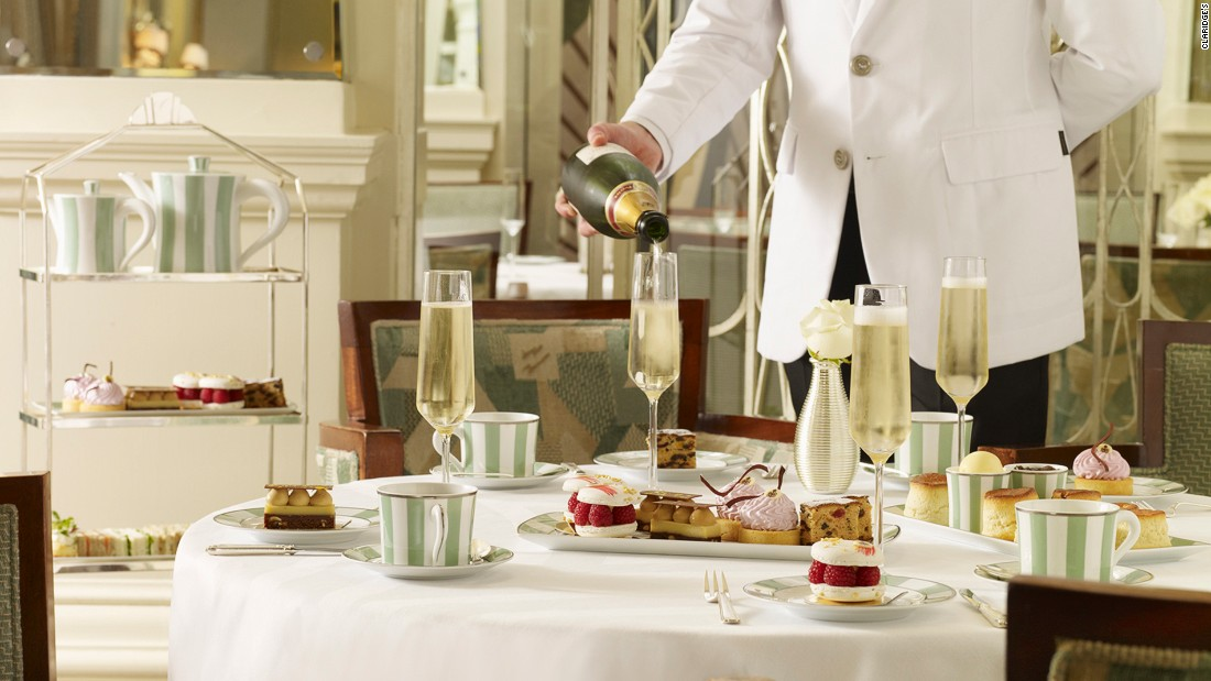 <strong>Claridge's: </strong>The five-star Claridge's Hotel has been serving luxury afternoon tea for over 150 years. Enjoying snacks served on Claridge's signature green-striped bone china in the hotel's art deco foyer is one of London's most signature afternoon tea experiences.