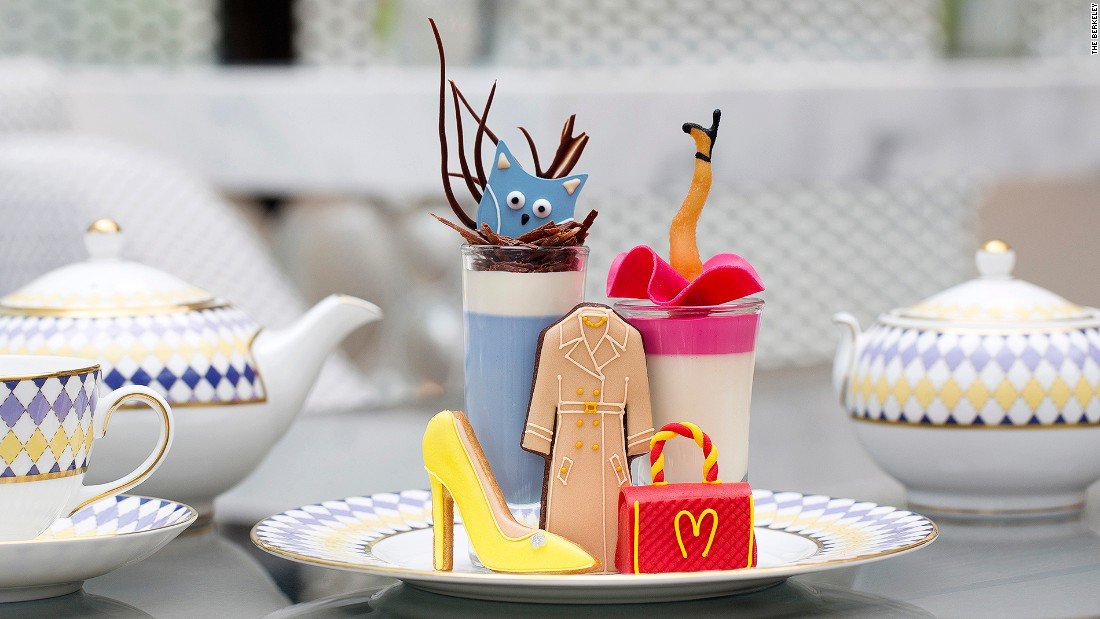 <strong>Pret-a-Portea, The Berkeley: </strong>An ideal afternoon tea venue for fashionistas, Pret-a-Portea's recent 10th Anniversary collection features the iconic McDonald's-inspired Moschino bag -- that's actually a sponge cake -- and stiletto cookies inspired by the likes of Nicholas Kirkwood.