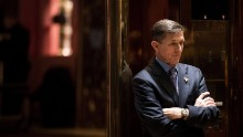 NEW YORK, NY - DECEMBER 12: Retired Lt. Gen. Michael Flynn, President-elect Donald Trump's choice for National Security Advisor, waits for an elevator in the lobby at Trump Tower, December 12, 2016 in New York City. President-elect Donald Trump and his transition team are in the process of filling cabinet and other high level positions for the new administration. (Photo by Drew Angerer/Getty Images)