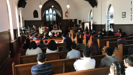 Worshipers during a recent service at Lincoln United Methodist Church.