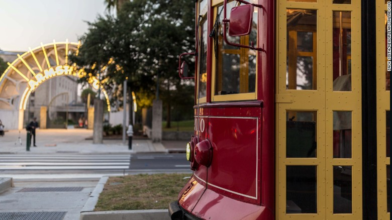 The Rampart-St. Claude streetcar line runs along the edge of the French Quarter.