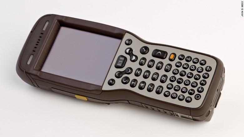 This Hand Held Computer Provides The Order Of Delivery To The Driver