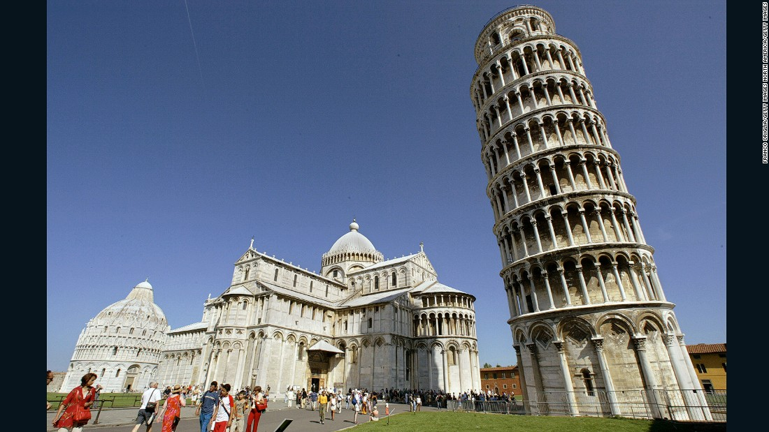 "Possibly the world's most famous leaning structure, the UNESCO World-Heritage listed <a href=""http://www.towerofpisa.org/"" target=""_blank"">Tower of Pisa</a> was designed to be vertical but started leaning during its construction, which began in 1173. Closed from 1990 to 2001 due to fears of an imminent collapse, the tower has been stabilized at a 4.95 degree lean according to John Burland, a British engineer who is credited with devising the final solution that saved the building."