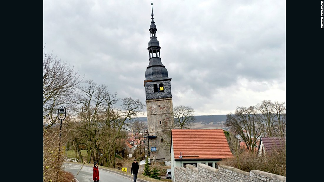 "The 184 foot (56 meter) high tower on the Church of Our Beloved Ladies by the Mountain in the German spa town of Bad Frankenhausen was first reported to be subsiding in historical documents from 1640. The tower has listed further to the northeast since that time and is now <a href=""http://www.spiegel.de/international/zeitgeist/built-on-salt-the-leaning-tower-of-bad-frankenhausen-a-691881.html"" target=""_blank"">estimated to have a 4.8 degree lean</a>. Fearing imminent collapse, the German government approved funding for restoration works to stabilize the structure in 2014."