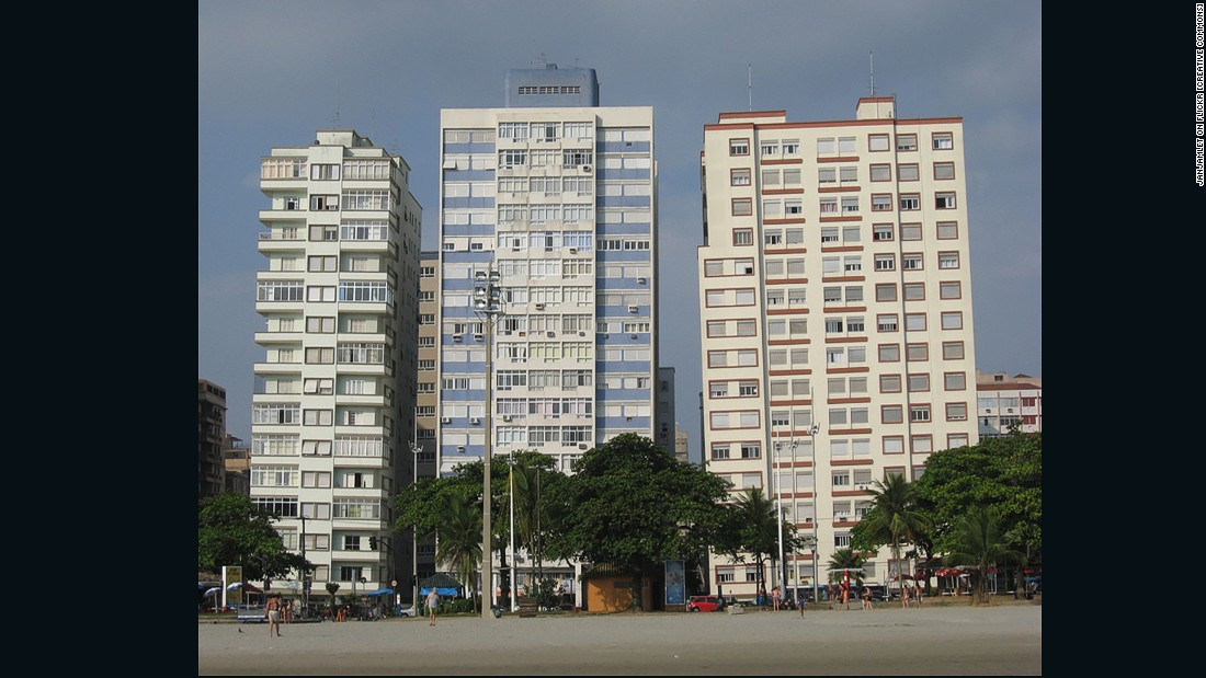 The coastal town of Santos, about 50 miles (80 km) to the south of Brazil's financial center of São Paulo, is well known for its tilted high rise apartment buildings. Constructed on a bed of sand and slippery clay, approximately 90 of the city's waterfront buildings lean due to insufficient foundations that don't go deep enough. Although people still live in these tilted towers -- and the local government insists they are safe -- the value of the buildings plummeted when the lean became apparent.