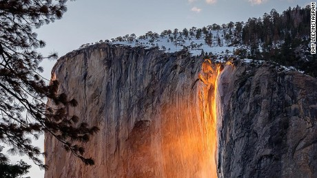 It's that time of year for the mesmerizing phenomenon 'Firefall' to illuminate Horsetail Fall in Yosemite National Park.