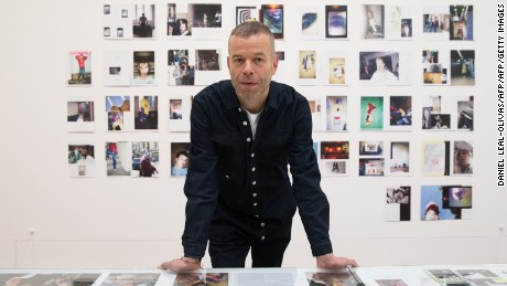 Wolfgang Tillmans in front of more work from his exhibition at London's Tate Modern