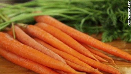 Carrots are a healthy snack that also help clean your teeth.