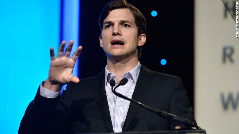 Ashton Kutcher Gets Flirty With John McCain During Senate Hearing