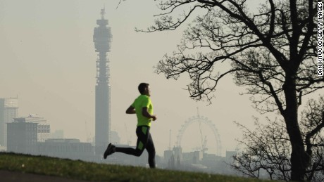 Parts of London surpassed the EU's annual limit for nitrogen dioxide exposure in January.