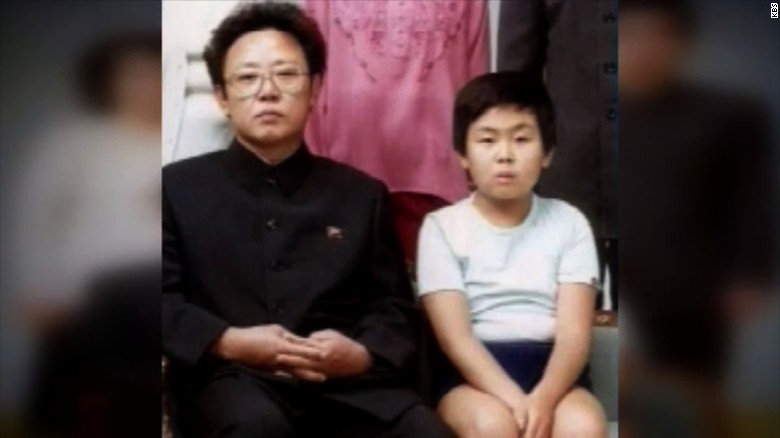 Kim Jong Nam (R) with his father, former North Korean leader Kim Jong Il (L), according to CNN-affiliate KBS.