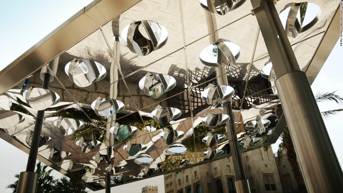 Showcased at a pop-up exhibition at the Museum of the Future in Dubai, the shiny metal creation is the latest by Italian architect and designer Carlo Ratti.