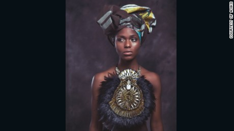 This stunning wearable art is inspired by African royalty