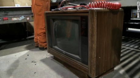 Police in Canada said $100,000 was discovered during the recycling of an old TV set. The money was returned to the owner after 30 years.