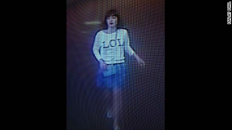 "A photo of security footage shows a suspect wearing a shirt with ""LOL"" on it in Sepang, Malaysia, on Monday, February 13."