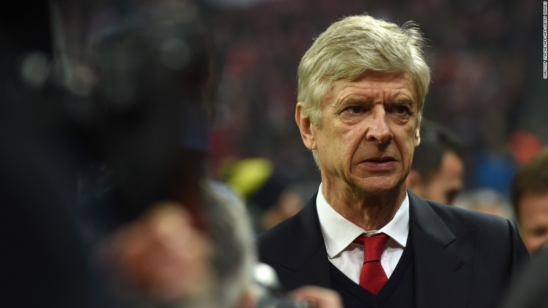 Arsene Wenger endured a torrid night in Germany as his Arsenal side lost 5-1 to Bayern Munich in the first leg of its European Champions League last 16 tie. The Frenchman is under pressure from the club's fans to call it a day after 21 years at the club.