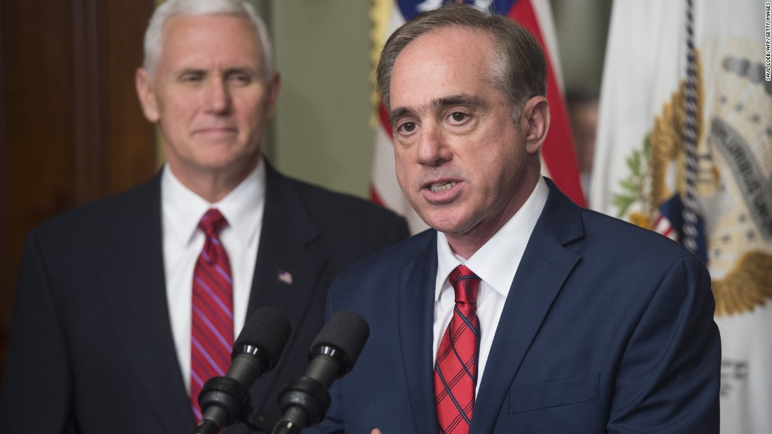 "Pence watches David Shulkin, the new secretary of the Veterans Affairs Department, speak at his swearing-in ceremony on February 14. Shulkin was confirmed by <a href=""http://www.cnn.com/2017/02/13/politics/steven-mnuchin-senate-confirmation-vote-david-shulkin/"" target=""_blank"">a unanimous vote</a> in the Senate."