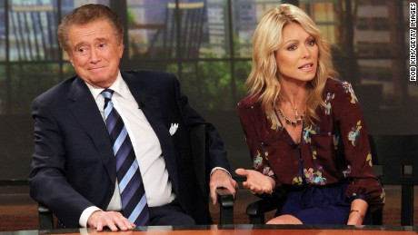 "Regis Philbin and Kelly Ripa hosted ""LIVE! with Regis and Kelly"" for a decade."