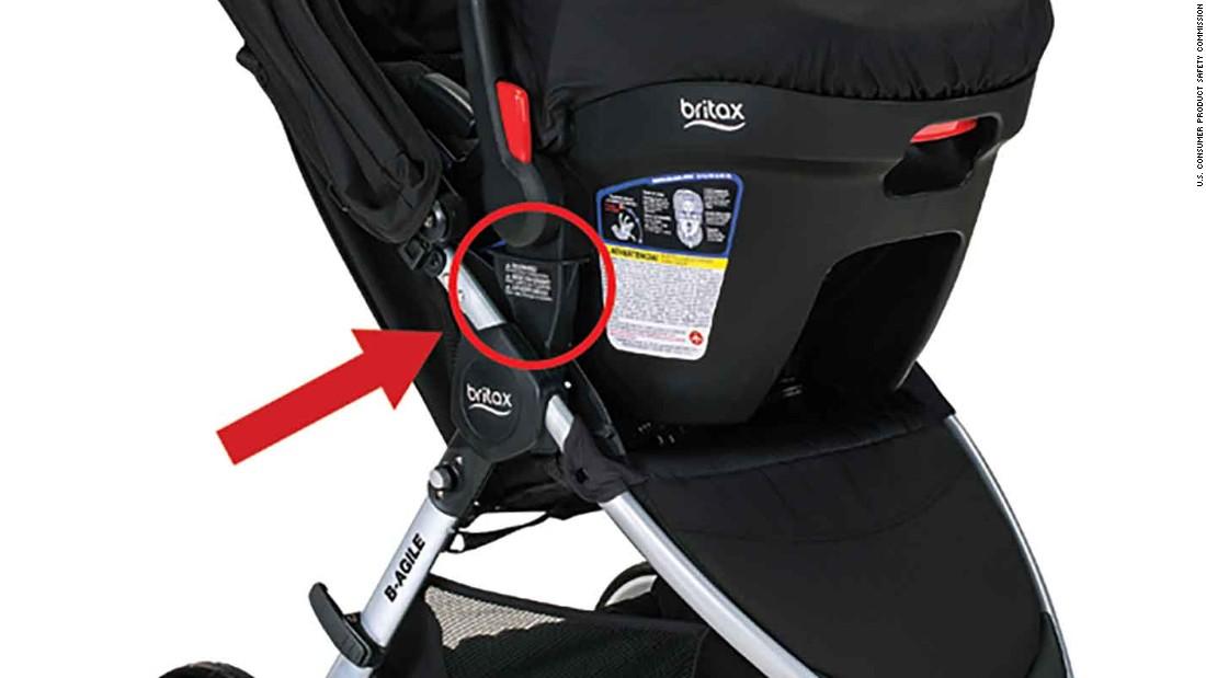 britax stroller recall more than 700 000 b agile bob motion strollers need repair cnn. Black Bedroom Furniture Sets. Home Design Ideas