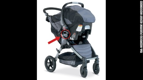 The Britax stroller recall includes 676,000 strollers sold in the United States.