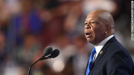 US Representative Elijah Cummings speaks during Day 1 of the Democratic National Convention at the Wells Fargo Center in Philadelphia, Pennsylvania, July 25, 2016. / AFP PHOTO / Robyn BECKROBYN BECK/AFP/Getty Images