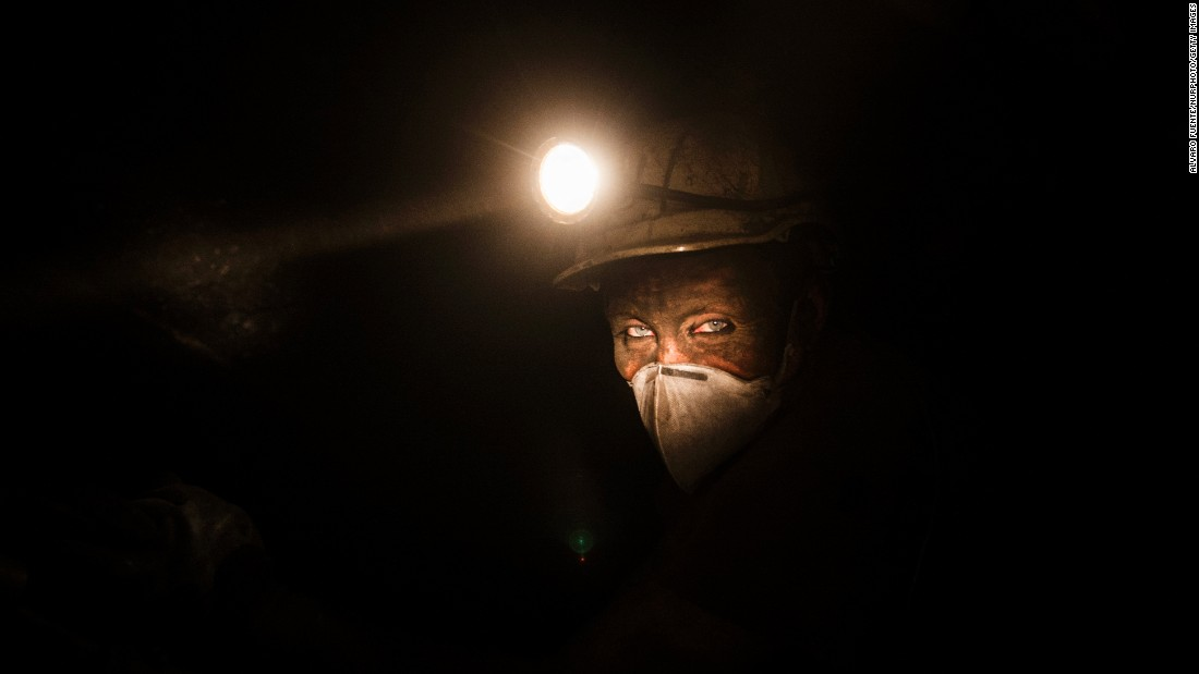 A miner works in the Spanish city of Villanueva del Rio y Minas on Friday, February 10. The coal industry is fading in Spain. In 1990, 167 coal mines employed about 40,000 workers. That's now down to about 40 mines and 4,000 workers.