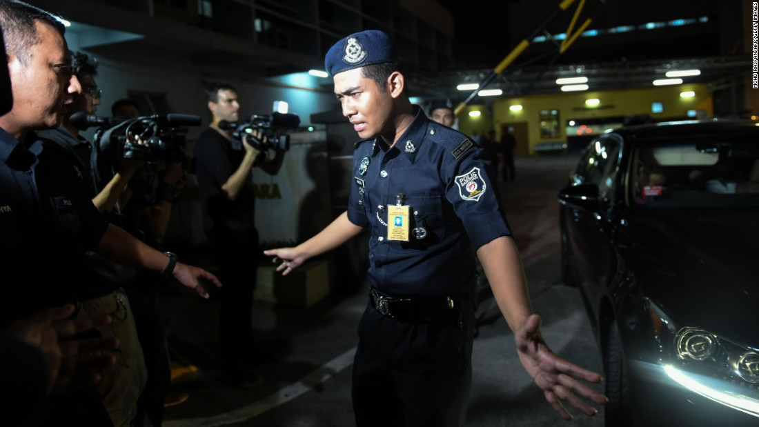 "A police officer tries to stop members of the media as a North Korean embassy official leaves a hospital in Kuala Lumpur, Malaysia, on Wednesday, February 15. Kim Jong Nam, the half-brother of North Korean leader Kim Jong Un, <a href=""http://www.cnn.com/2017/02/16/asia/kim-jong-nam-arrests-autopsy/"" target=""_blank"">died on Monday</a> after becoming ill at Kuala Lumpur's airport. Lee Cheol Woo, chairman of South Korea's National Assembly Intelligence Committee, told a press briefing that Kim had been poisoned. Three suspects have been arrested."