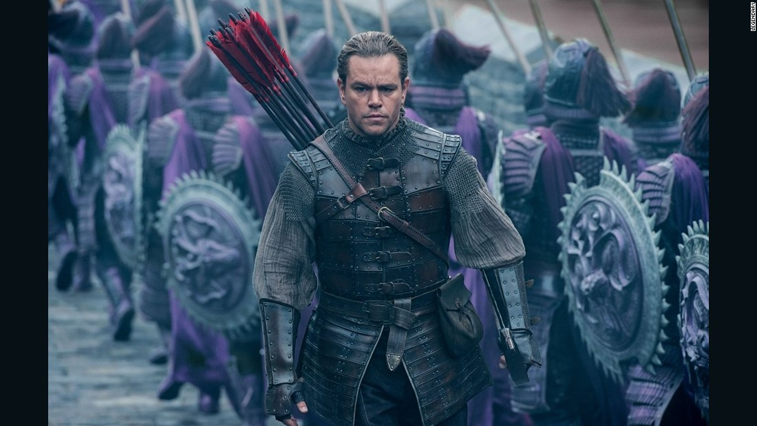 Matt Damon Battles Monsters In Solid 'The Great Wall'