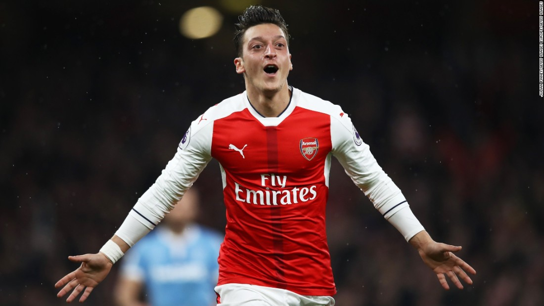 Arsenal's all-time record transfer fee of £40 million was spent on former Real Madrid man Ozil in 2013. Although his four seasons at the club have yielded three FA Cup trophies, Ozil has suffered fits adapting to the English game. After sputtering out of the gate when played as an out of position winger, his league leading 19 assists in 2016 confirmed his arrival in the Premier League. Ozil's languid demeanor, however, is a constant target for critics.