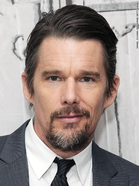 "NEW YORK, NY - MAY 11: Ethan Hawke poses during the AOL BUILD Speakers Series: Ethan Hawke And Andrew Niccol Discuss Their New Film ""Good Kill"" at AOL Studios In New York on May 11, 2015 in New York City.  (Photo by Daniel Zuchnik/WireImage)"