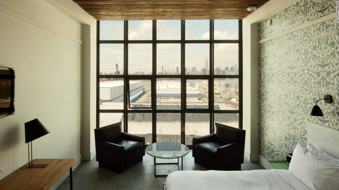 <strong>Wythe Hotel </strong>--<strong> </strong>Housed in a former factory built in 1901, the Wythe Hotel retains the building's original pine beams and factory windows.