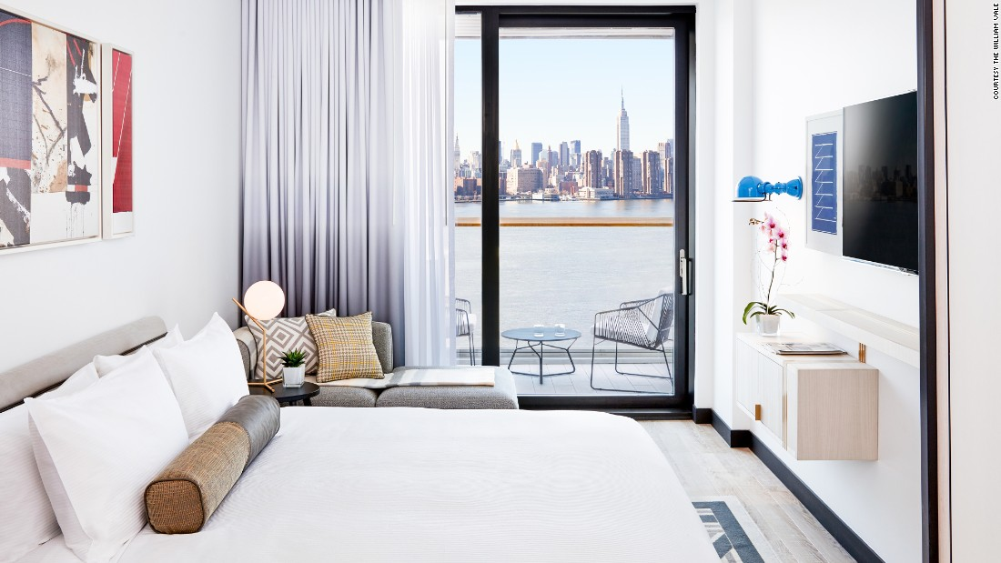 <strong>The William Vale </strong>-- This 22-story, 183-room Williamsburg hotel offers sweeping views of Manhattan and Brooklyn.